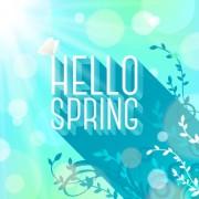 Link toShiny spring elements vector background set 03
