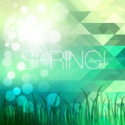 Link toShiny spring elements vector background set 08