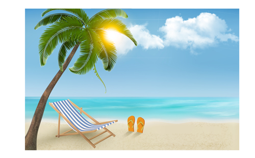 summer holidays happy travel background vector graphic 01