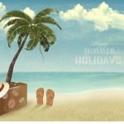 Link toSummer holidays happy travel background vector graphic 02