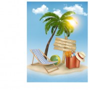 Link toSummer holidays happy travel background vector graphic 03