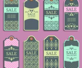 Vintage sale tags creative design set 01