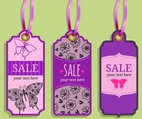 Vintage sale tags creative design set 02
