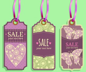Vintage sale tags creative design set 03