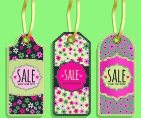 Vintage sale tags creative design set 04