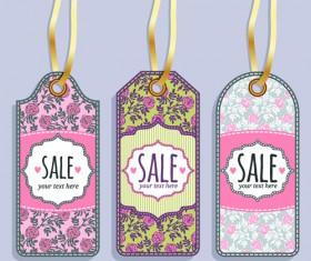 Vintage sale tags creative design set 05