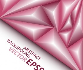 3D triangle geometry shapes background vector 04