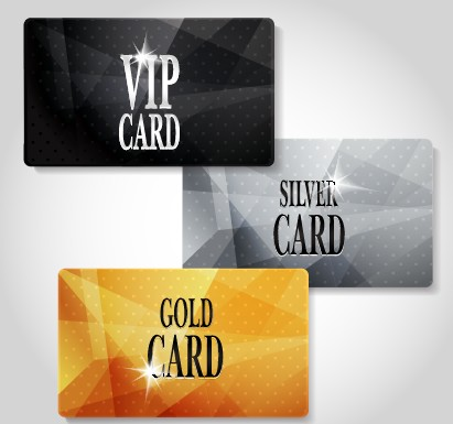Glowing Vip Card Creative Design Vector Set 03 Free Download