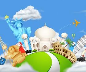 Vector set of world travel design graphics 01