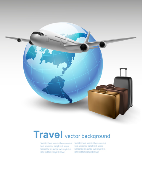 Vector set of world travel design graphics 06