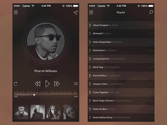 Vintage Music Player Psd Material