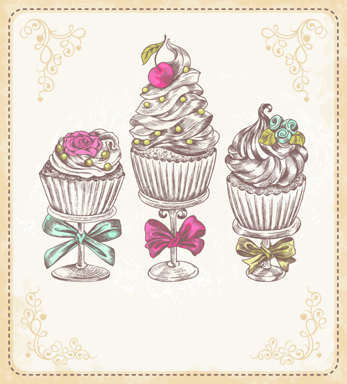 vintage cupcake wallpaper - photo #15
