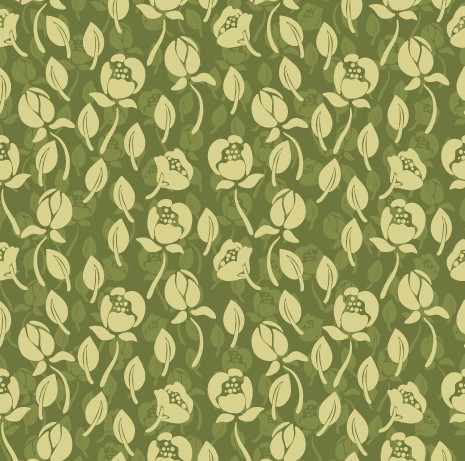 Vintage green flower seamless pattern