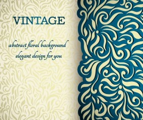 Vintage ornate ornaments pattern background art 03