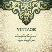 Vintage ornate ornaments pattern background art 04