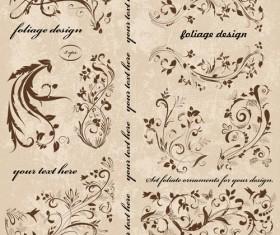 Vintage spring floral ornaments elements vector 01