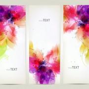 Link toWatercolor flower vertical banner design 03