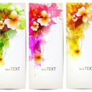 Link toWatercolor flower vertical banner design 04