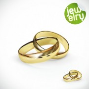 Link toGolden glow wedding rings elements vector 01