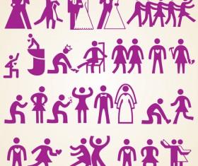 Wedding people silhouette design vector