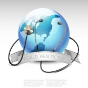 Link toWorld health day design elements vector