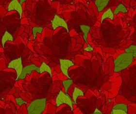 Beautiful flowers seamless pattern art vector 05