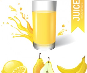 fresh juice splashes effect poster design 01