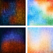 Link toAbstract letters and numerals creative background 04
