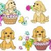 lovely dog design vector graphics