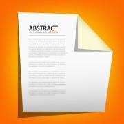 Link toOrigami with orange background vector graphic