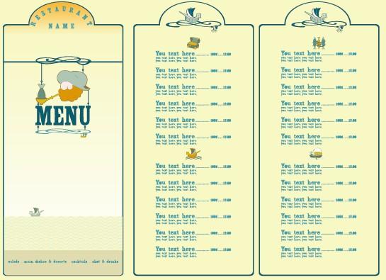 restaurant menu list design elements 01 free download