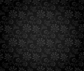Dark ornate floral seamless pattern vector 01