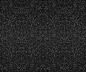 Dark ornate floral seamless pattern vector 02