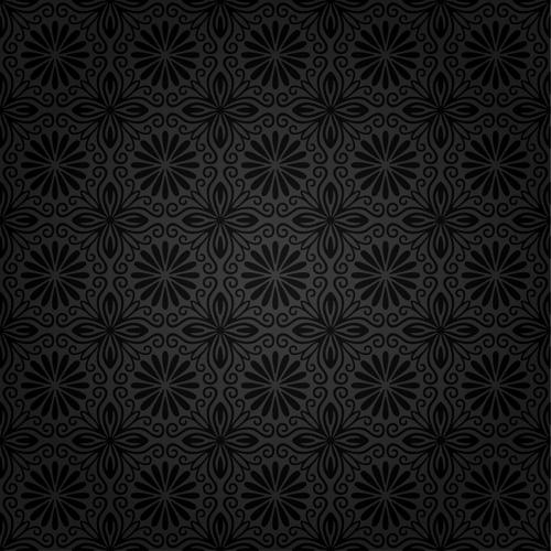 Dark ornate floral seamless pattern vector 03