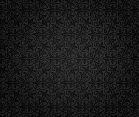 Dark ornate floral seamless pattern vector 04