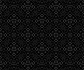 Dark ornate floral seamless pattern vector 05