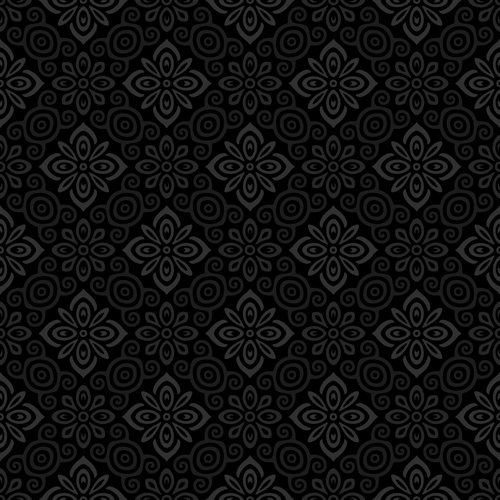 Dark ornate floral seamless pattern vector 05 vector for Dark pattern background