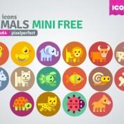 Link to16 kind cartoon animals mini icons
