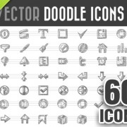 Link to60 kind doodle icons vector