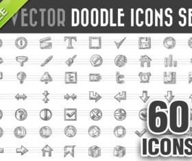 60 Kind doodle icons vector