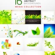 Link toAbstract leaf concept background vector 02