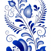 Link toBeautiful blue flower ornaments design vector