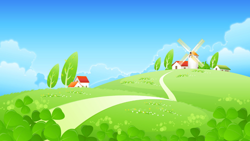 vector cartoon landscape backgroundsfree - photo #26