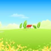 Link toBeautiful cartoon landscapes vector set 12