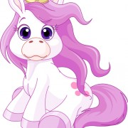 Beautiful cute horse princess vector