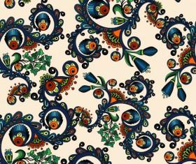 Beautiful ethnic style seamless patterns vector set 01