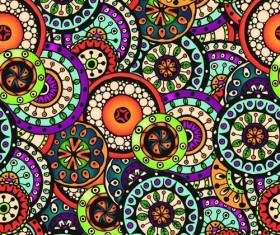 Beautiful ethnic style seamless patterns vector set 04