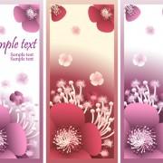 Link toBeautiful flower vertical banner vector set