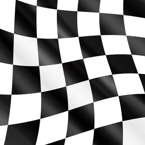 Black and white checkered background vector 01