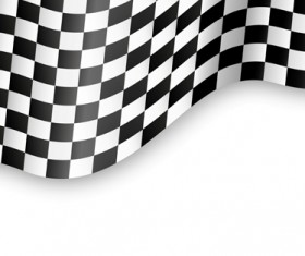 Black and white checkered background vector 02